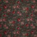 Tecido Gorgurão Belize Floral Marrom