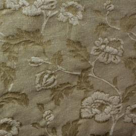 Tecido Jacquard Floral Castor