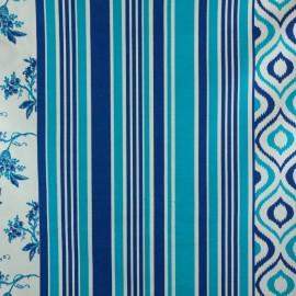 Tecido Jacquard Flamê Est. Azul