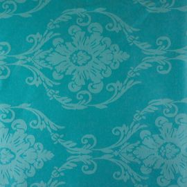 Tecido Jacquard Adamascado Monarca Azul Tiffany