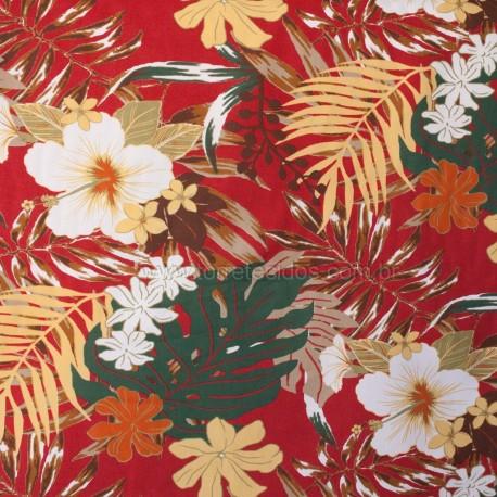 Sarja Açucena Estampada Vermelho/Amarela