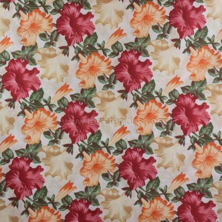 Gorgurão Belize Floral Hibisco c/ Proteção 1,40m