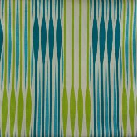 Tecido Jacquard Flamê Listras Azul/Verde