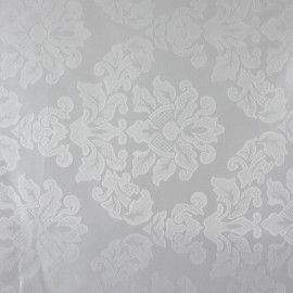 Tecido Jacquard Medalhão Branco