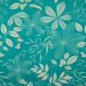 Tecido Gorgurão Waterblock Floral Azul Tiffany
