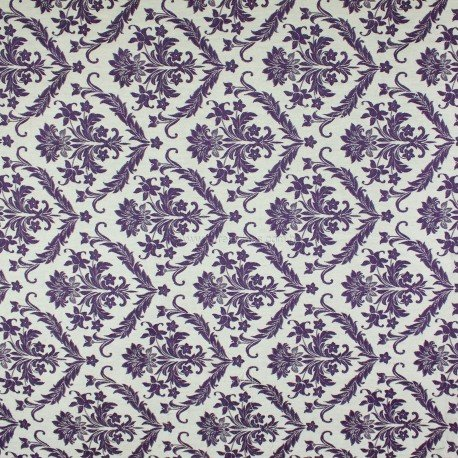 Tecido Jacquard Adamascado Titan Violeta