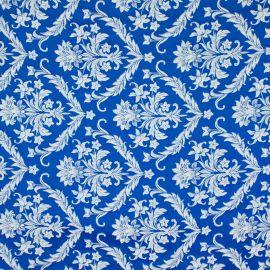 Tecido Jacquard Adamascado Titan Azul Bic