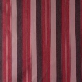 Tecido Algodão Colorê Listras Vermelho/Marrom