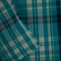 Tecido Algodão Colorê Xadrez Azul Turquesa
