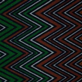 Tecido Algodão Estampado Etnico Verde/Laranja