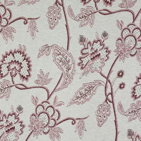 Jacquard Flores Tubique Vermelho