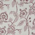 Tecido Jacquard Flores Tubique Vermelho