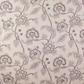 Tecido Jacquard Flores Tubique Marrom
