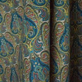 Tecido Veludo Vellus Cachemir Azul