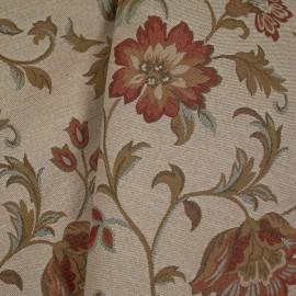 Tecido Gobelem Pixel Floral 2 Crú