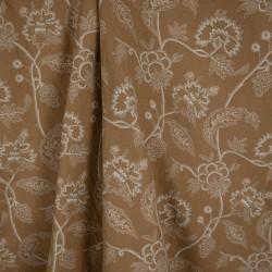 Jacquard Floral Tubique Bege Amarelado