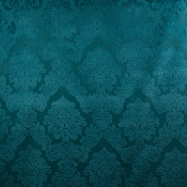 Tecido Veludo Medalhão Azul Turquesa Legacy