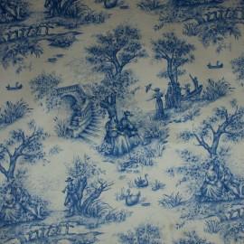 Tecido Veludo Vellus Tolie de Joly Azul/Crú