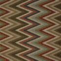 Tecido Gobelém Pixel Etnico Crú/Verde