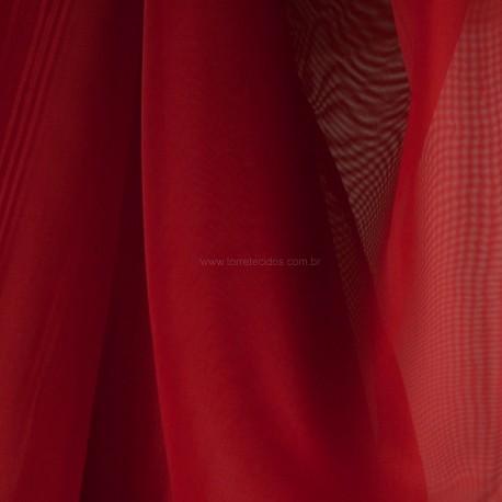 Tecido Voil Vermelho