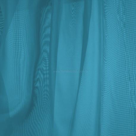 Tecido voil azul turquesa torre vermelha decor for Cortinas azul turquesa