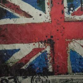 Tecido Suede Amassada Bandeira da Inglaterra