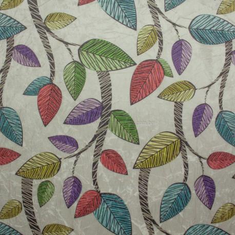 Suede Amassada Folhas Coloridas