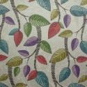 Tecido Suede Amassada Folhas Coloridas