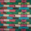 Tecido Suede Amassada Tijolo Colorido
