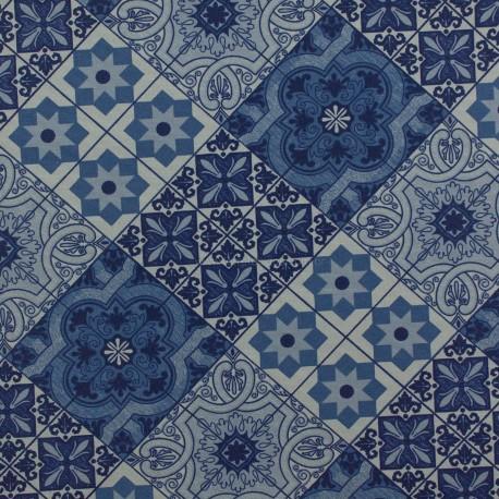 Gorgurão Waterblock Azulejo Azul