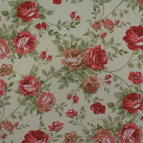 Gorgurão Waterblock Floral Peônias