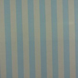 Tecido Gorgurão Belize Listrado Azul/Bege