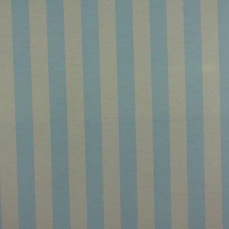 Gorgurão Belize Listrado Azul/Bege