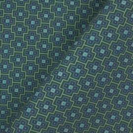 Tecido Linho Misto Gravataria Azul/Verde