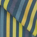 Tecido Linho Misto Listras Azul/Amarelo