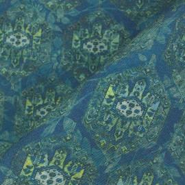 Linho Misto Mandala Azul