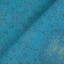 Tecido Linho Misto Kilim Azul