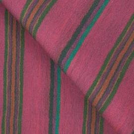 Tecido Linho Misto Listras Pink/Verde