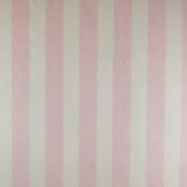 Tecido Sarja Listrada Rosa/Branco