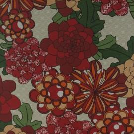 Tecido Gorgurão Waterblock Crisantemo Vermelho