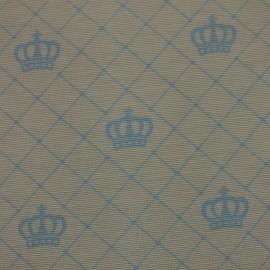 Tecido Gorgurão Belize Coroas Azul