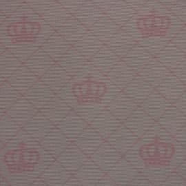 Tecido Gorgurão Belize Coroas Rosa