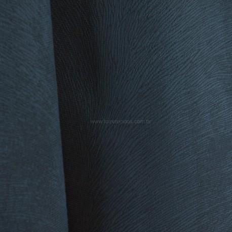 Veludo Animale Liso Azul Petróleo