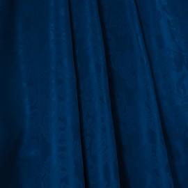 Tecido Jacquard Medalhão Azul Royal