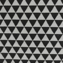 Tecido Jacquard Triângulos Preto/Crú