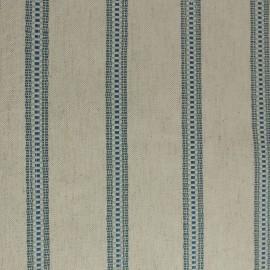 Tecido Jacquard de Linho Listrado Azul