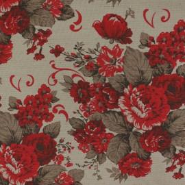 Tecido Linho Provence Floral Vermelho