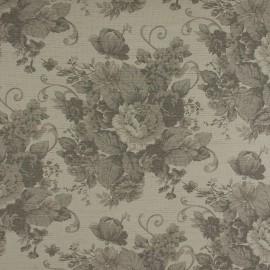 Tecido Linho Provence Floral Cinza