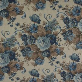 Tecido Linho Provence Floral Azul