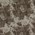 Tecido Linho Provence Floral Marrom